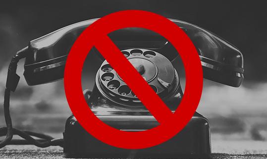 Vorübergehend telefonisch nicht erreichbar