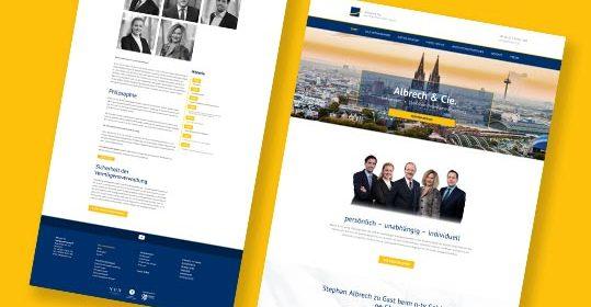 Neue Website für Albrech & Cie.